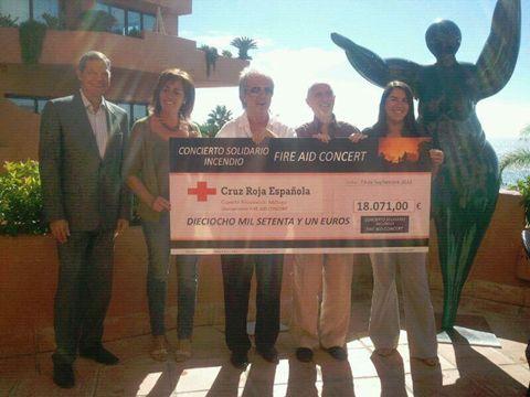 Fire Aid cheque presentation