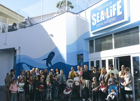 Cudeca volunteers at Sea Life Benalmadena