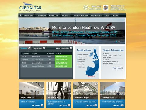 Airport website