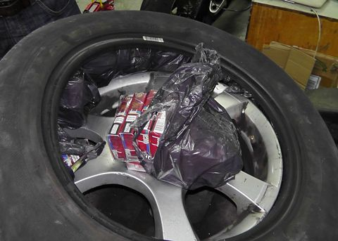 Tyre smuggler