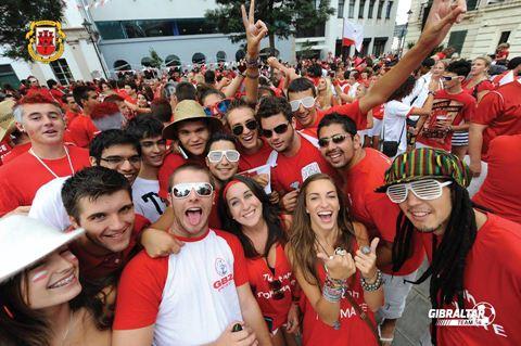 Gibraltar UEFA celebrations