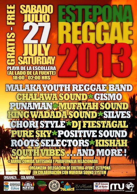 XI Estepona Festival of Reggae 2013