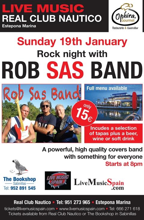 Rob Sas Band at Real Club Nautico