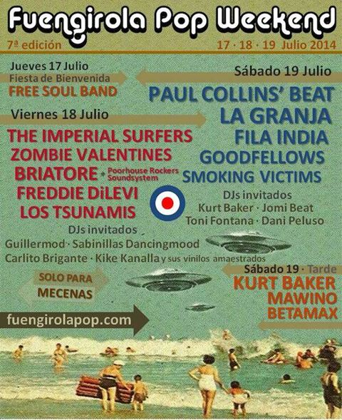 Funegirola Pop Weekend 2014 poster
