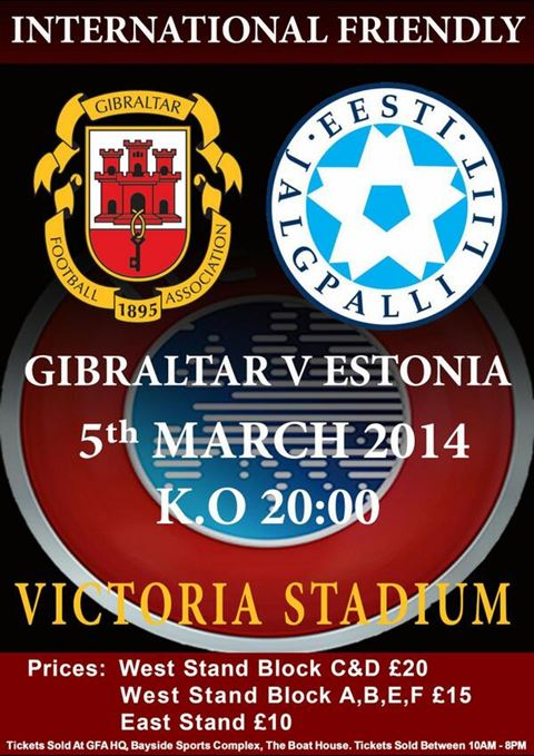 Gibraltar v Estonia football poster