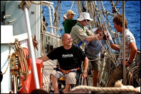 Disabled sailors on the Tenacious