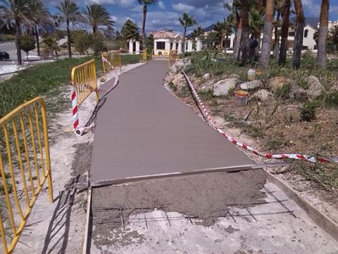 New footpath in Casares