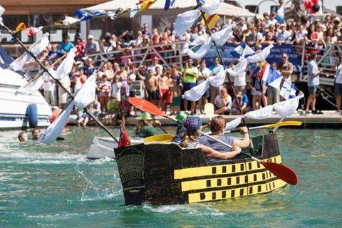 Gibraltar cardboard boat race