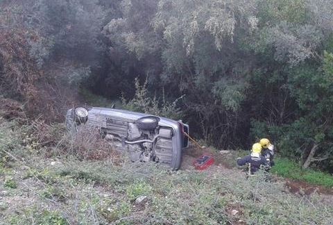 Car crash in Casares