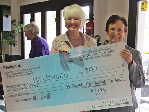CAP Age Concern donation