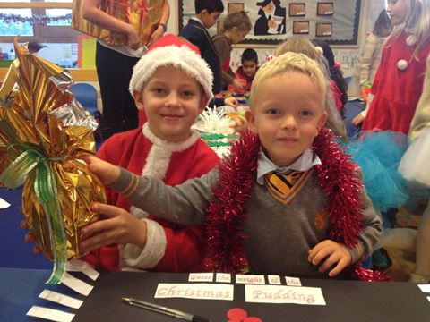 Children stepping into Christmas at BSM