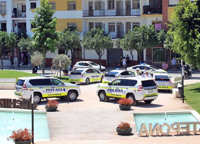 Police cars estepona