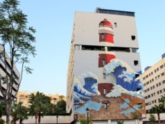 Estepona lighthouse mural
